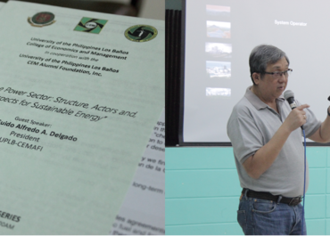 UPLB-CEMAFI Hosts a Seminar on Energy