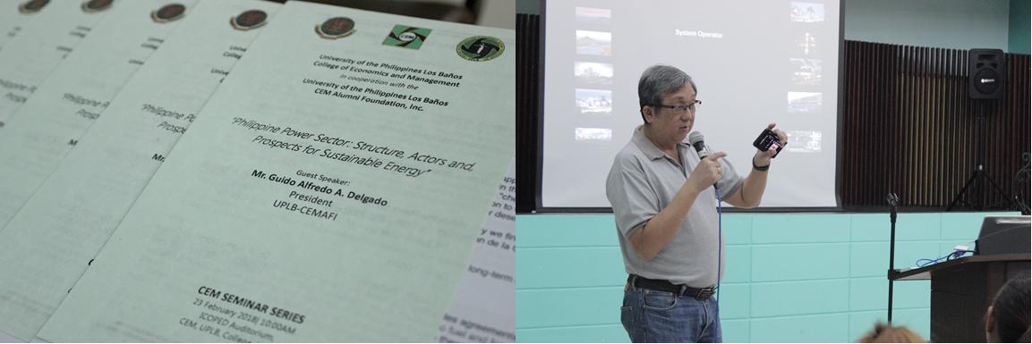 UPLB-CEMAFI Hosts a Seminar on Energy