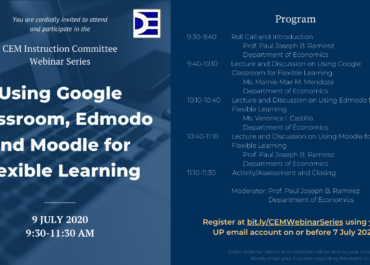CEM Instruction Committee Webinar Series : Using Google Classroom, Edmodo and Moodle for Flexible Learning