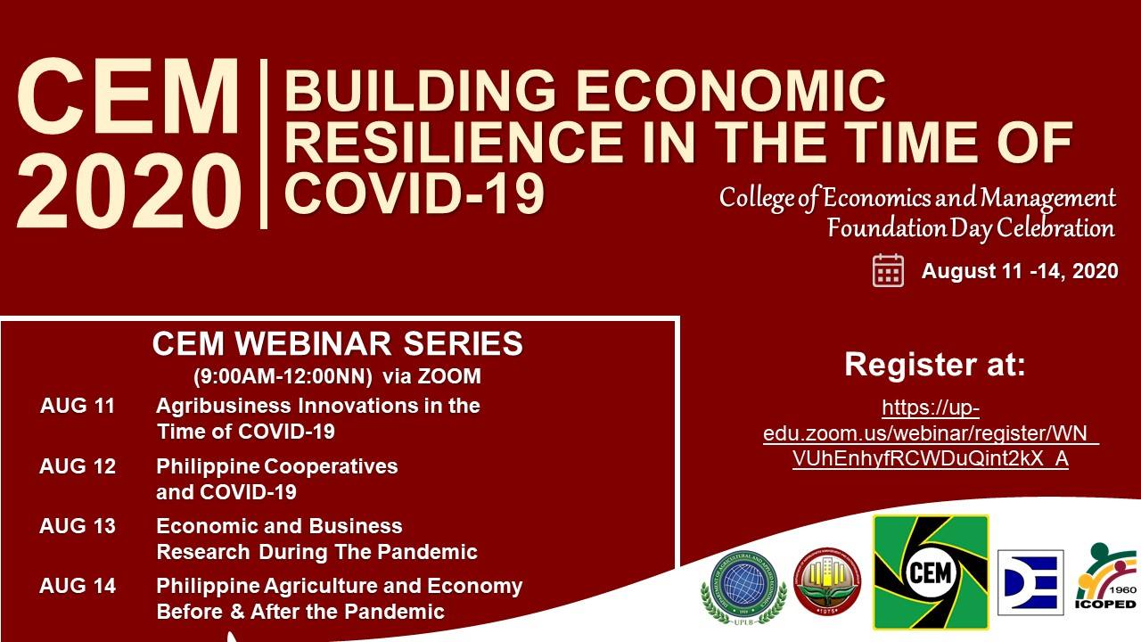CEM 2020: Building Economic Resilience in the Time of COVID-19