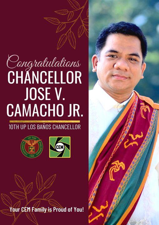 Congratulations to the 10th UPLB Chancellor, Dr. Jose V. Camacho Jr.