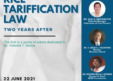 Rice Tariffication Law: Two Years After.            A Panel Discussion Series by the Department of Economics