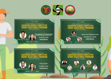 BS Agribusiness Management Graduates Among the Provincial Winners of Kabataang Agribiz CALABARZON